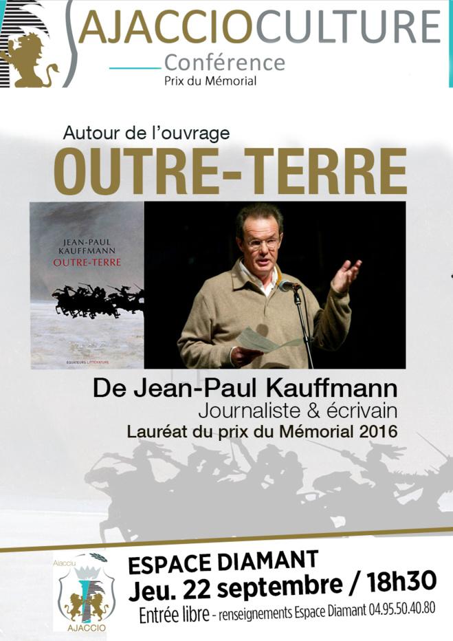 Jeudi 22 septembre, 18h30 : Conférence de Jean-Paul Kauffmann