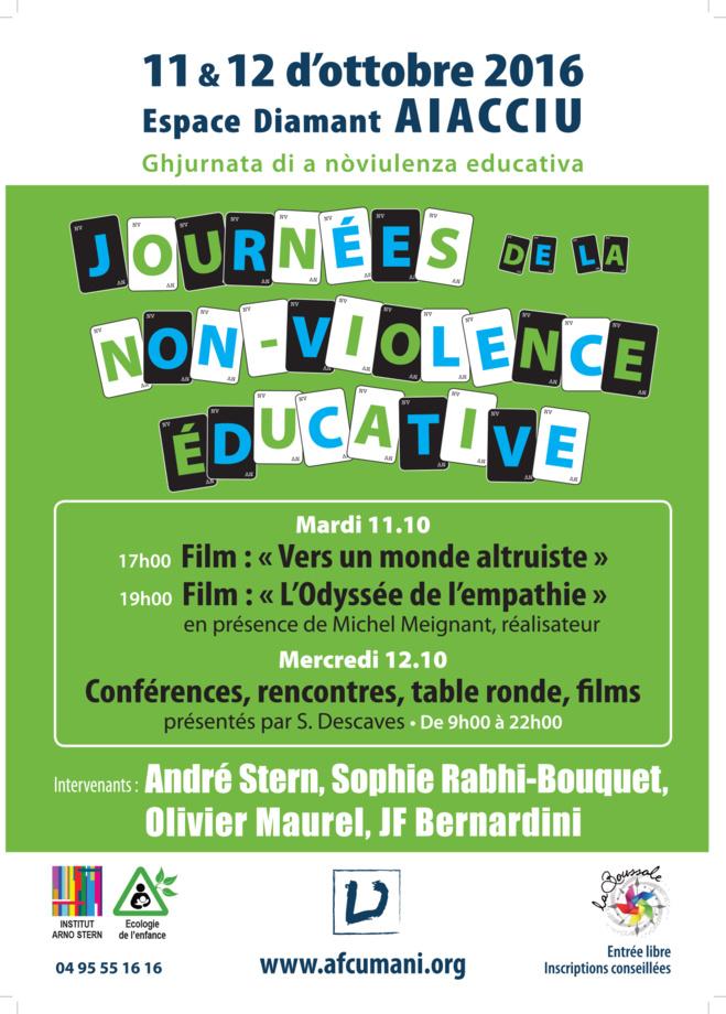 11 & 12 octobre : Journées de la non violence éducative