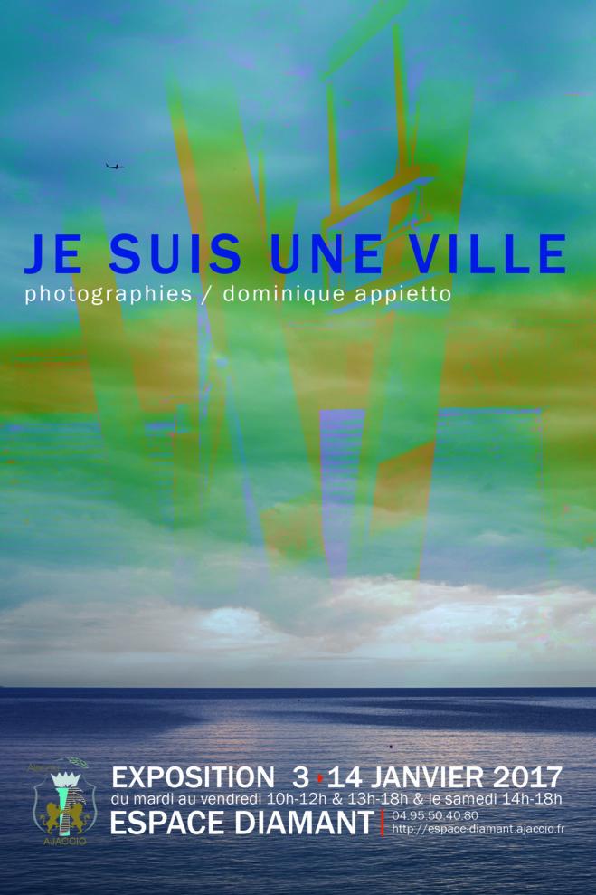 """Exposition du 3 au 14 janvier 2017 """" JE SUIS UNE VILLE"""" , Photographies de Dominique Appietto"""