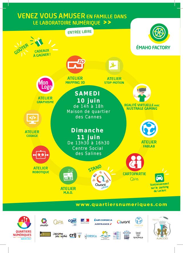 Quartiers numériques du 8 au 15 juin 2017