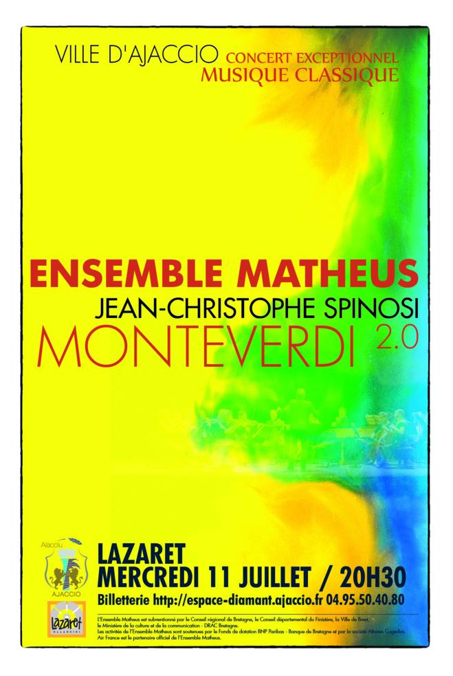 Concert Classique avec Jean-Christophe Spinosi et l'Ensembre Matheus : Monteverdi 2.0