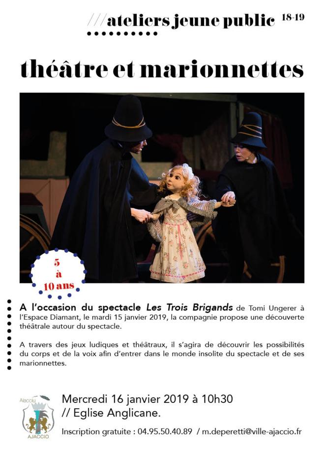 """Atelier autour du spectacle """"les 3 brigands"""""""