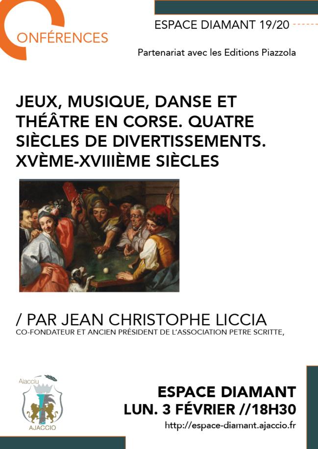 Conférence: Jeux, Musique, Danse et Théâtre en Corse avec les éditions Alain Piazolla