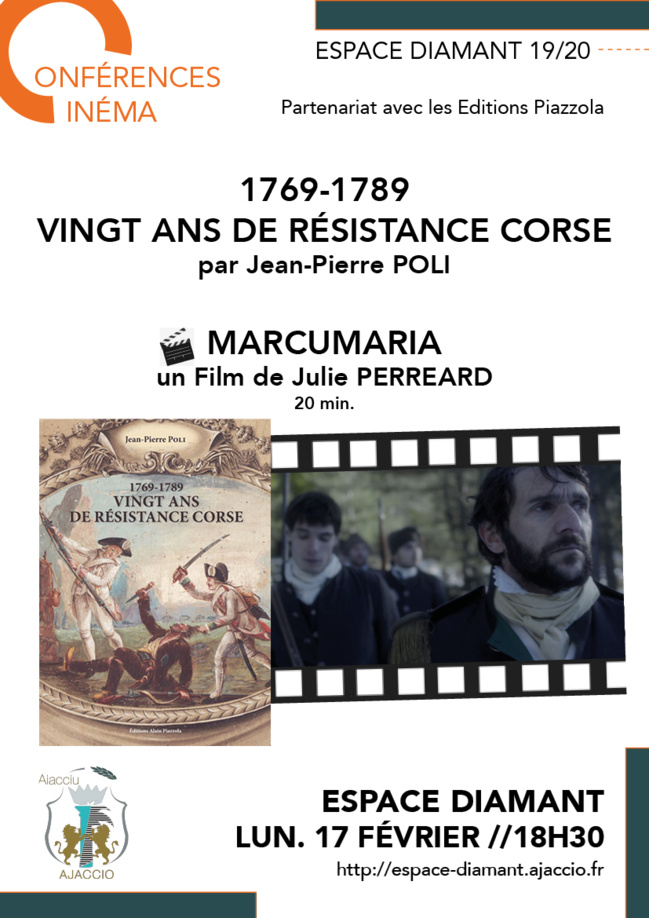 Conférence & Film / 1769-1789 Vingt ans de résistance corse