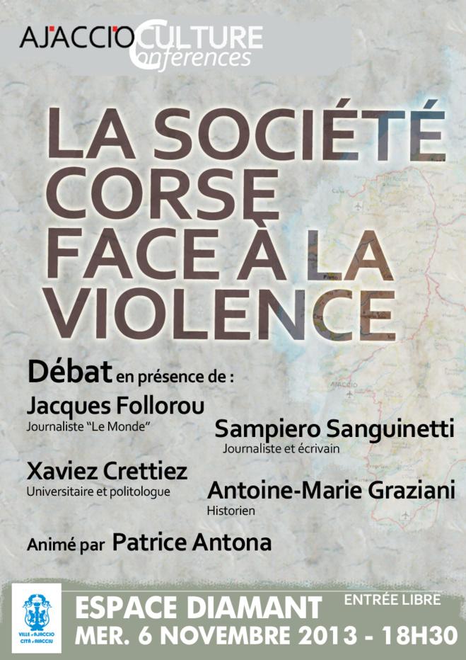 """Débat : """"La société corse face à la violence"""""""