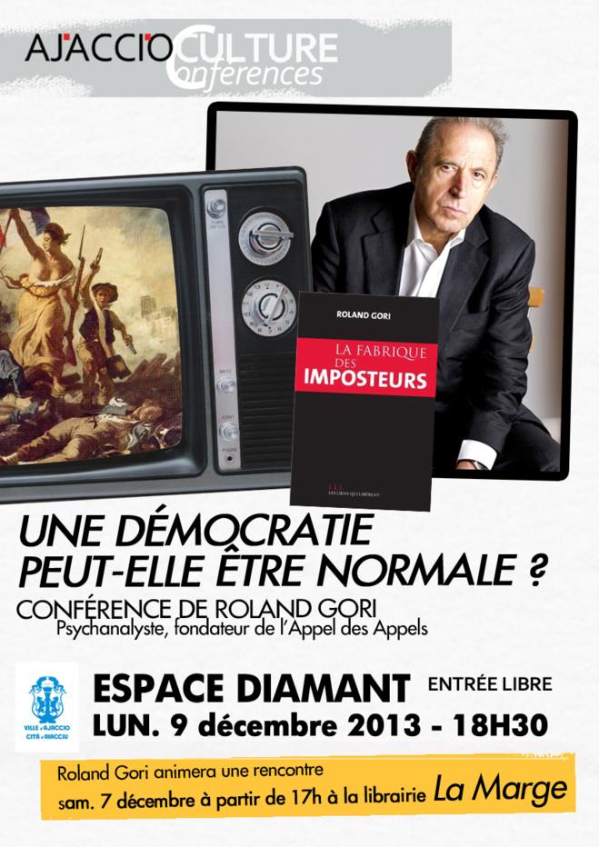Espace DIamant : Conférence de Roland Gori, fondateur de l'Appel des appels