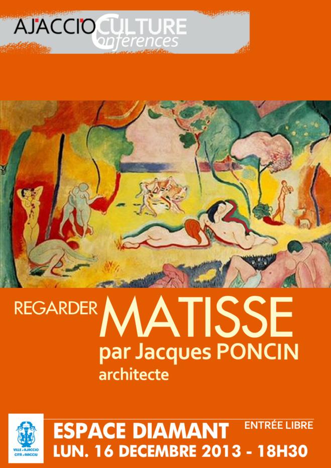"""Espace Diamant : Conférence de Jacques Poncin : """"Regarder Matisse"""""""