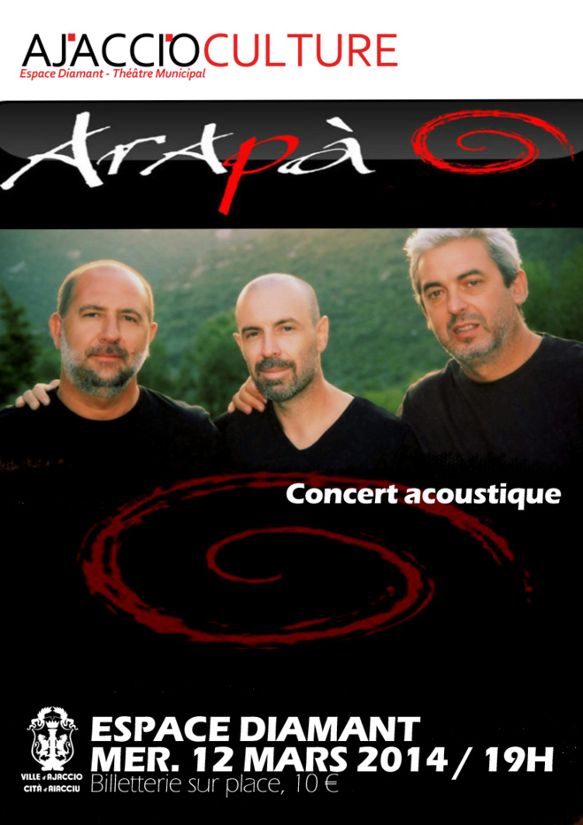 ARAPA en concert acoustique le 12 mars