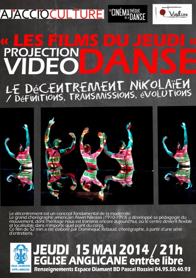 Projection Vidéo danse à l'église Anglicane