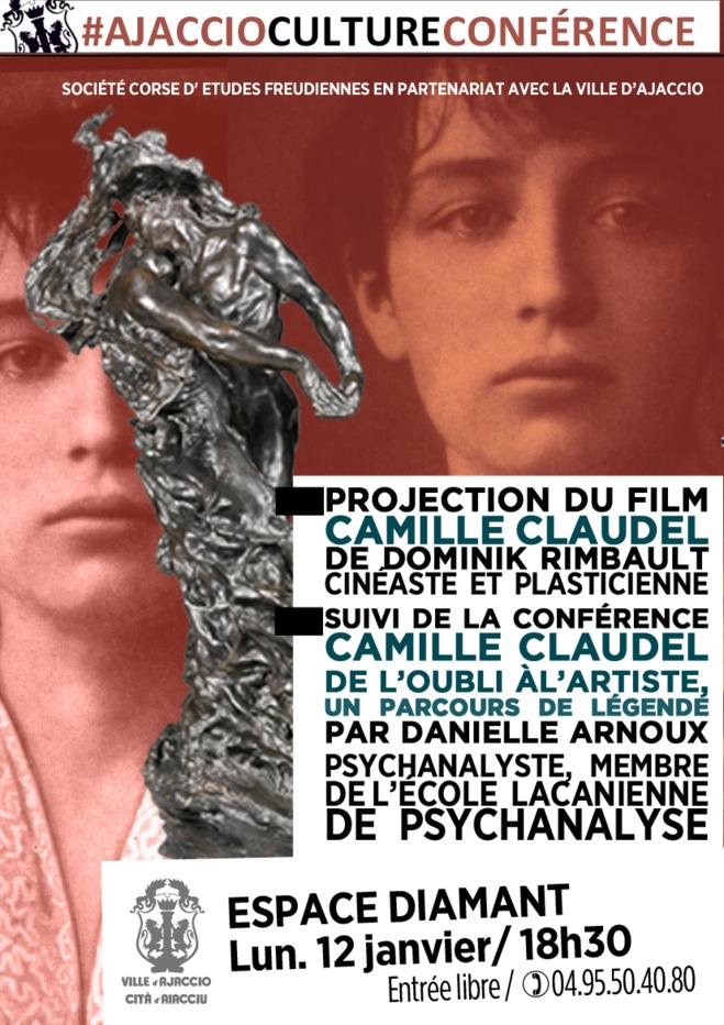 """Film et Conférence autour de """"Camille Claudel"""""""