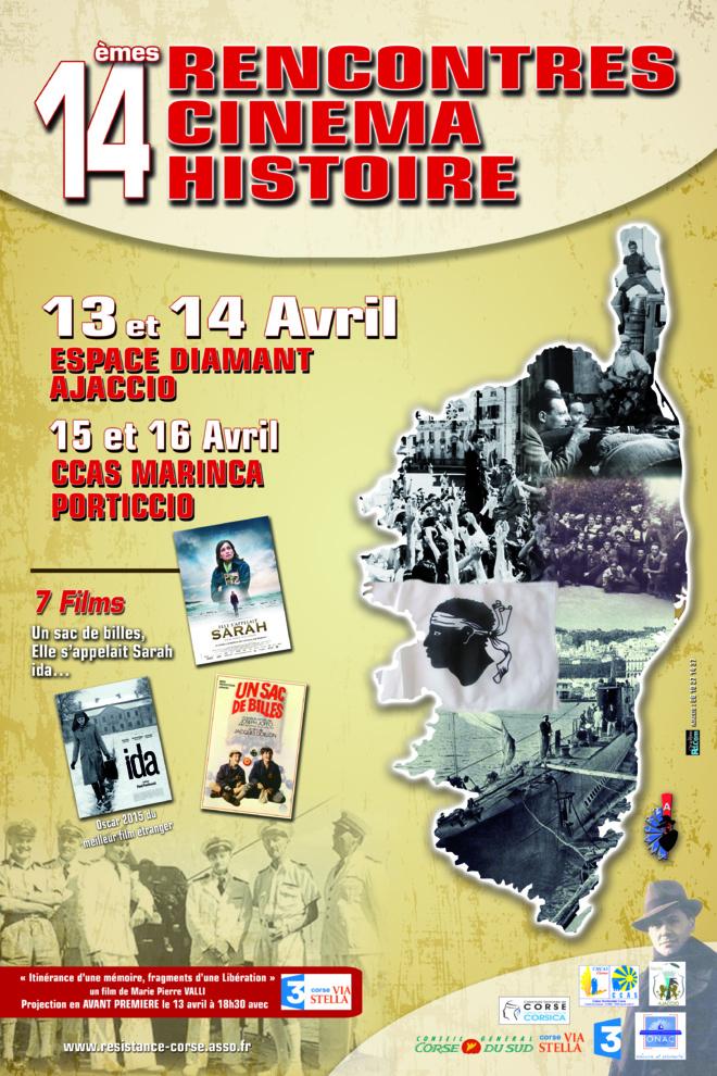 13 & 14 avril 2015 : Rencontres Cinéma Histoire 2015 -Entrée libre -