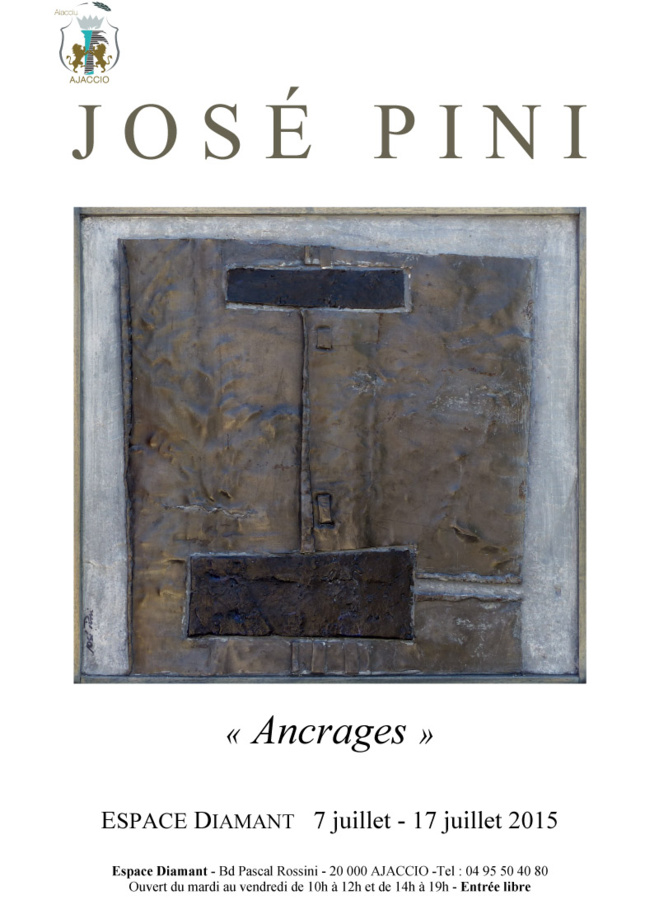 """Exposition """"Ancrages"""" du 7 au 17 juillet  : Oeuvres du sculpteur José Pini"""