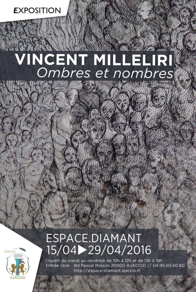 Ombres et nombres, oeuvres de Vincent Milleliri du 15 au 29 avril Espace Diamant