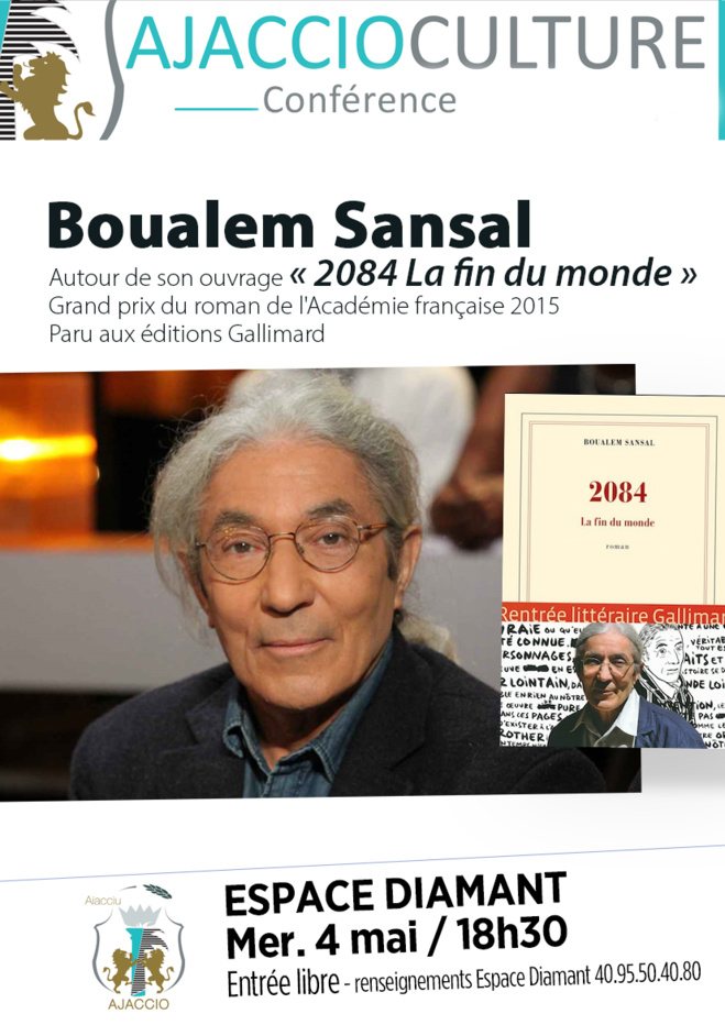 Conférence de Boualem Sansal  « 2084 La fin du monde »