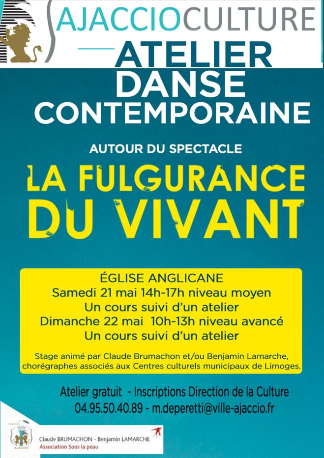 Atelier de danse contemporaine  Autour du spectacle La Fulgurance du Vivant les 21 & 22 mai