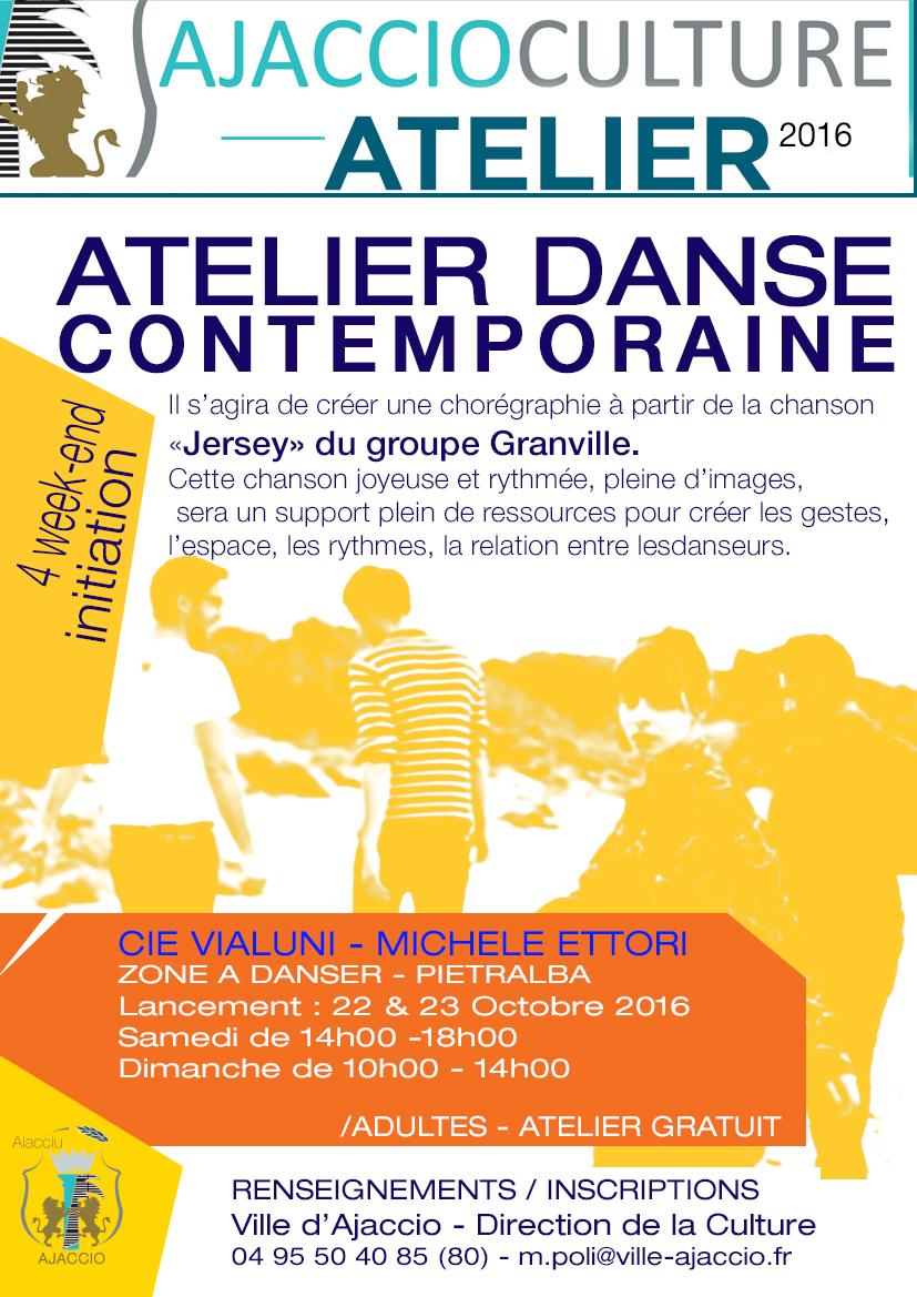 Atelier d'initiation à la danse contemporaine avec la Cie Vialuni / A partir du 22 octobre