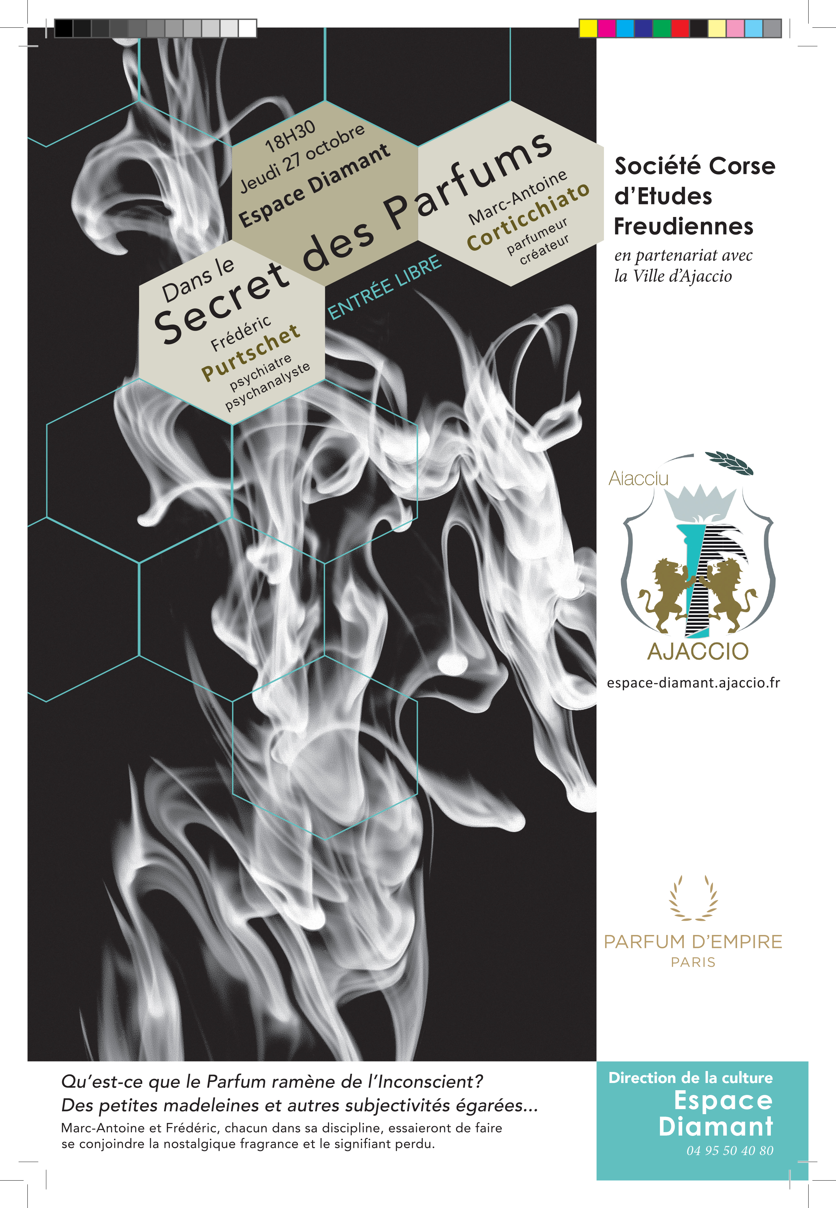 Jeudi 27 octobre Conférence Dans le Secret des parfums