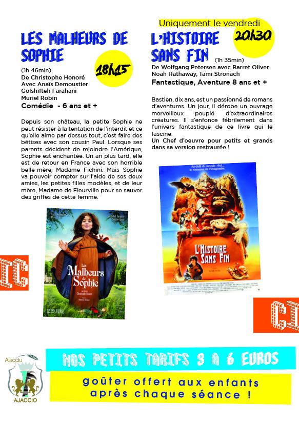 Du cinéma pour les enfants les 3 et 4 mars !