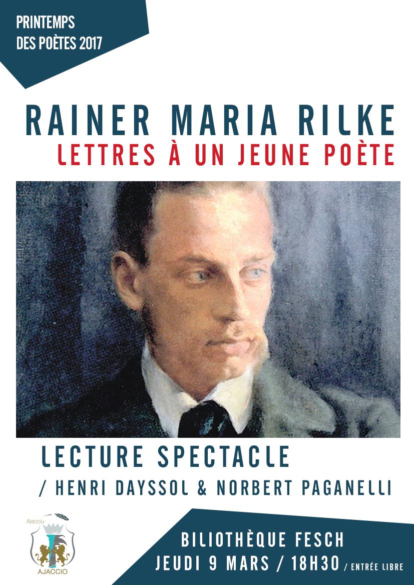 Lecture à la bibliothèque: dans le cadre du printemps des poètes : Lettres à un jeune poète de Rilke