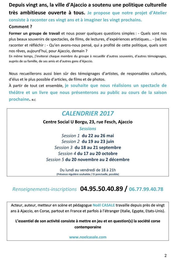 Atelier de théâtre / compagnie Théâtre du Commun