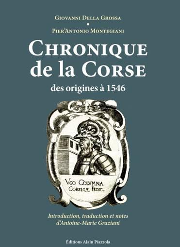 Conférence 2 octobre : Les grands chroniqueurs corses