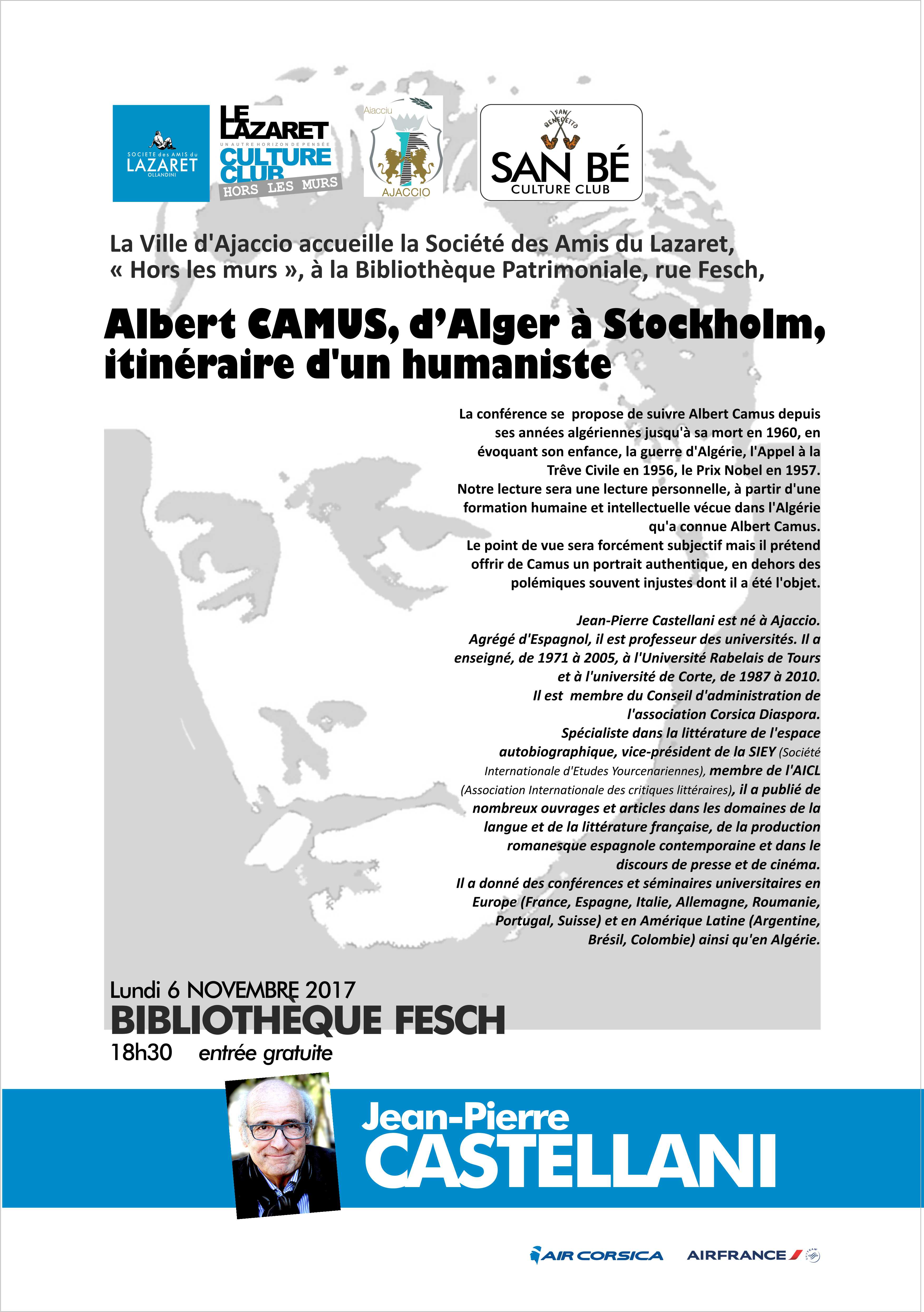 Conférence Jean-Pierre Castellani autour d'Albert Camus