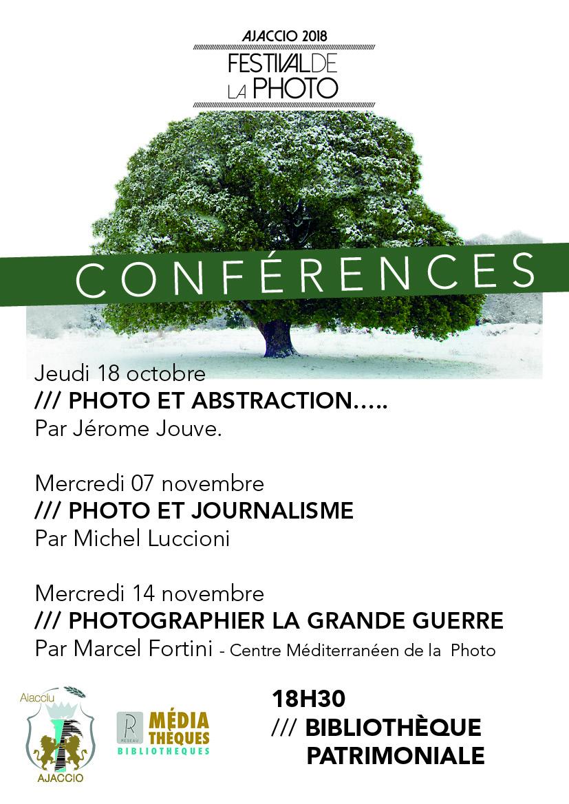 Conférences dans le cadre du Festival de la photo