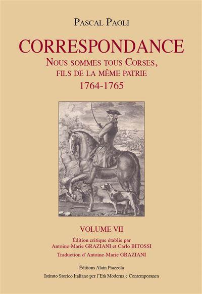 Conférence / « Pascal Paoli. Correspondance : Nous sommes tous corses, fils de la même patrie 1764-1765 »