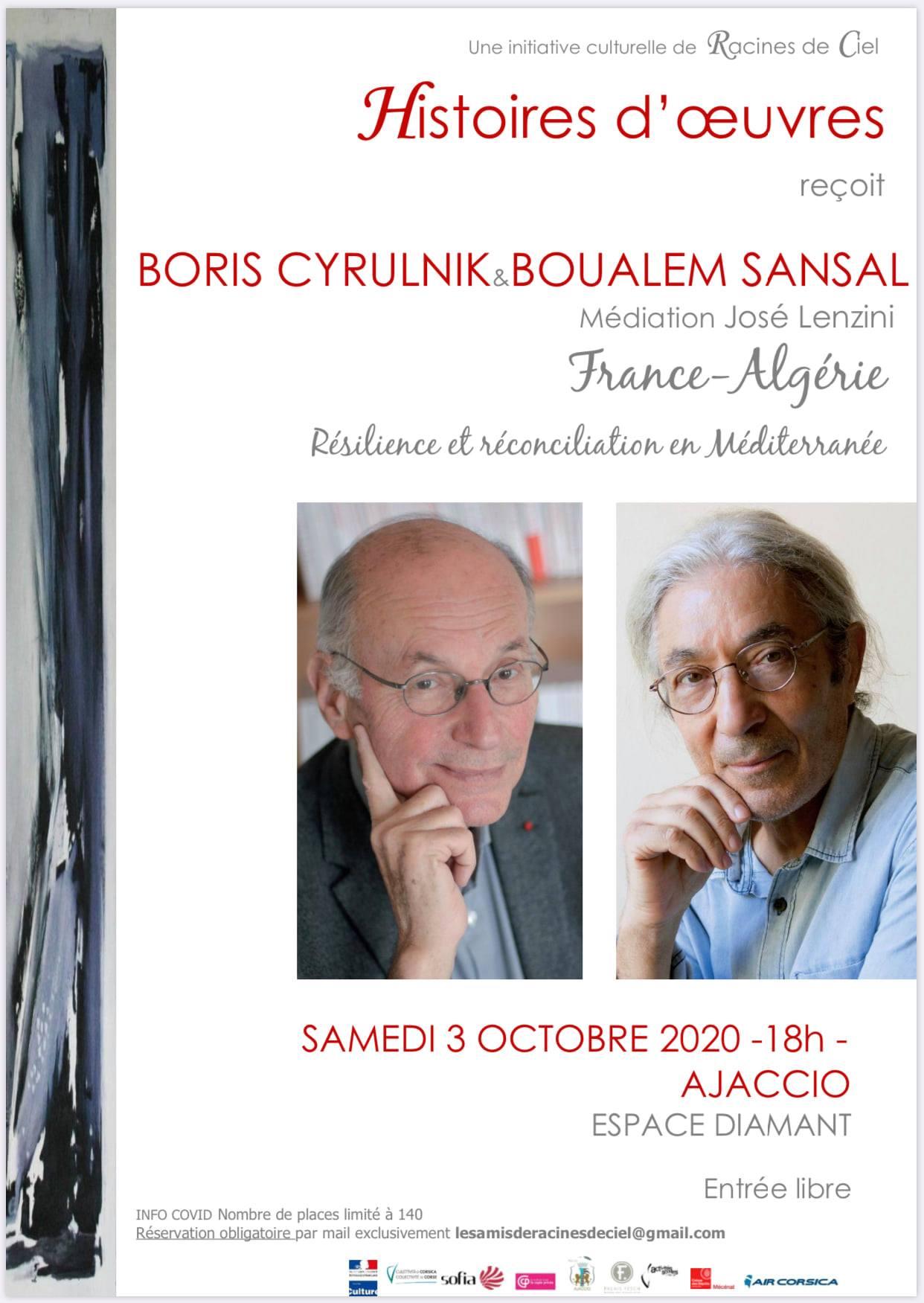 BORIS CYRULNIK & BOUALEM SANSAL à l'Espace Diamant