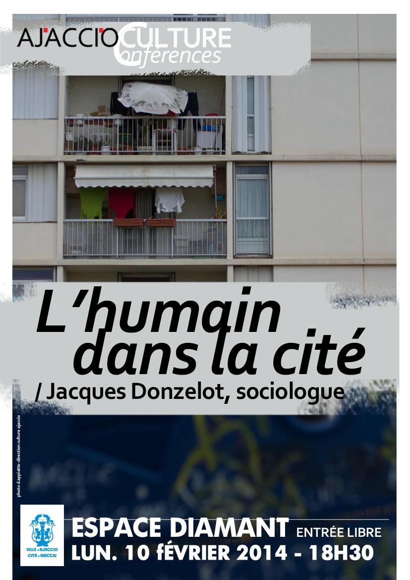 """Espace Diamant - Conférence : """"L'humain dans la cité"""""""