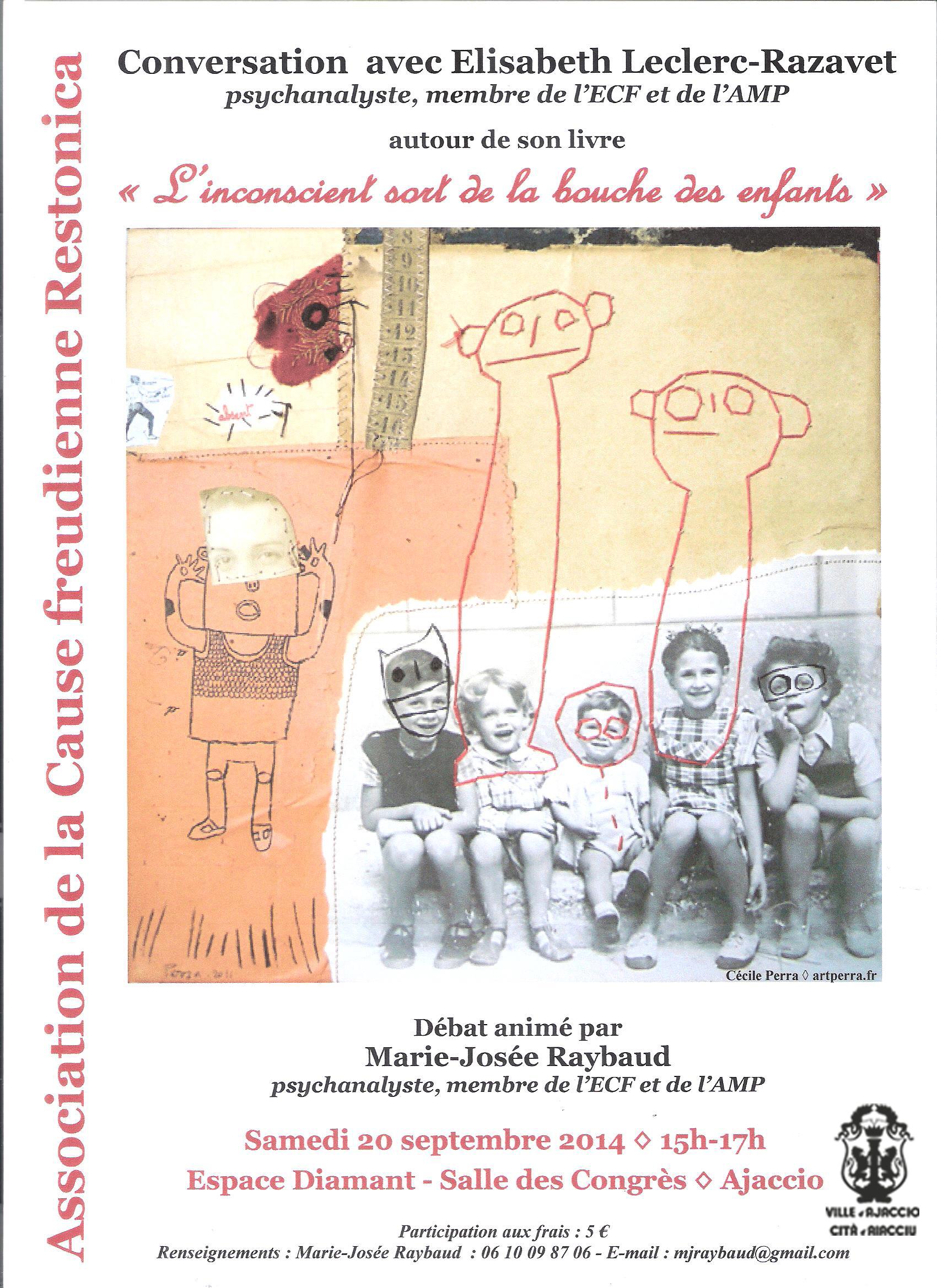 Conférence/psychanalyse avec Elisabeth Leclerc-Razavet
