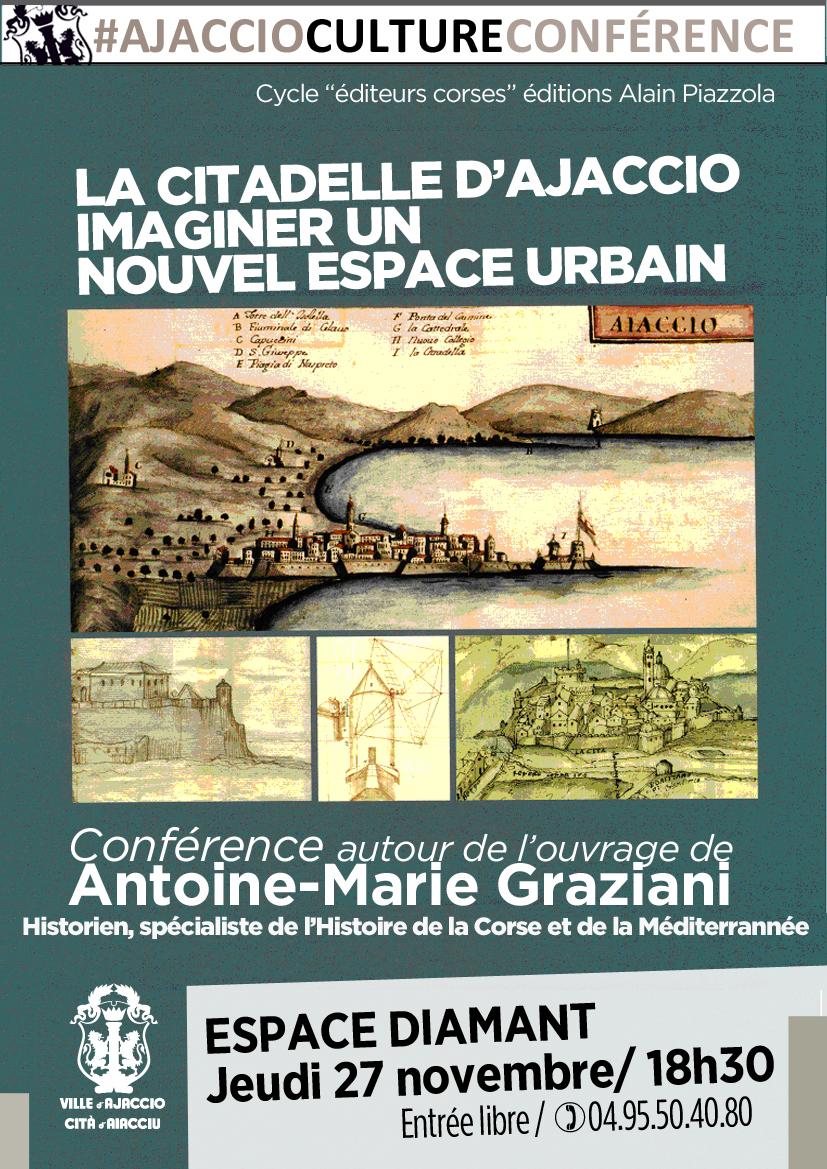 Conférence :  La citadelle d'Ajaccio, imaginer un nouvel espace urbain »