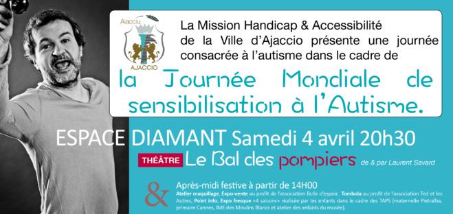 Samedi 4 avril à partir de 14h Théâtre ateliers et rencontres avec les associations dans le cadre de la journée mondiale de sensibilisation à l'autisme Espace Diamant