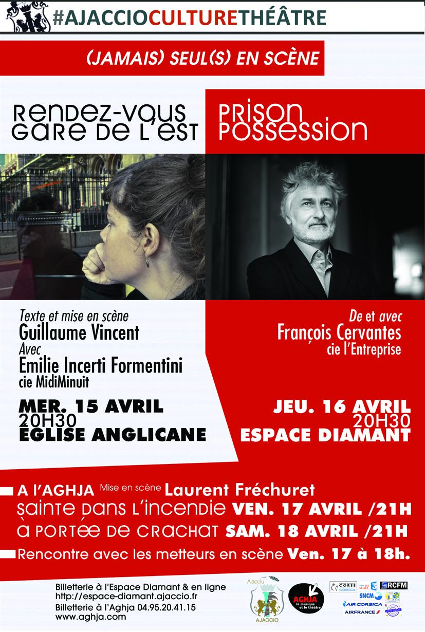 (Jamais) Seul(s) en scène, 4 spectacles à l'Espace Diamant, et à l'Aghja