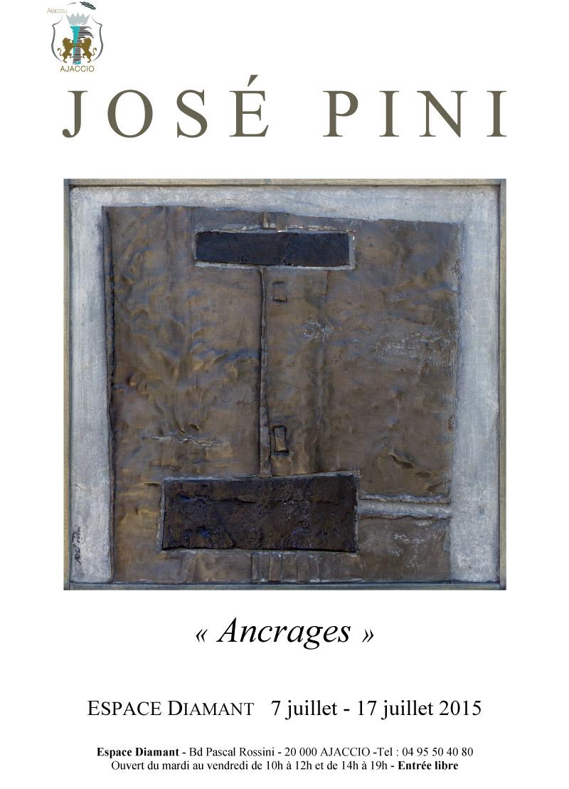 Exposition du 7 au 17 juillet  : Oeuvres du sculpteur José Pini