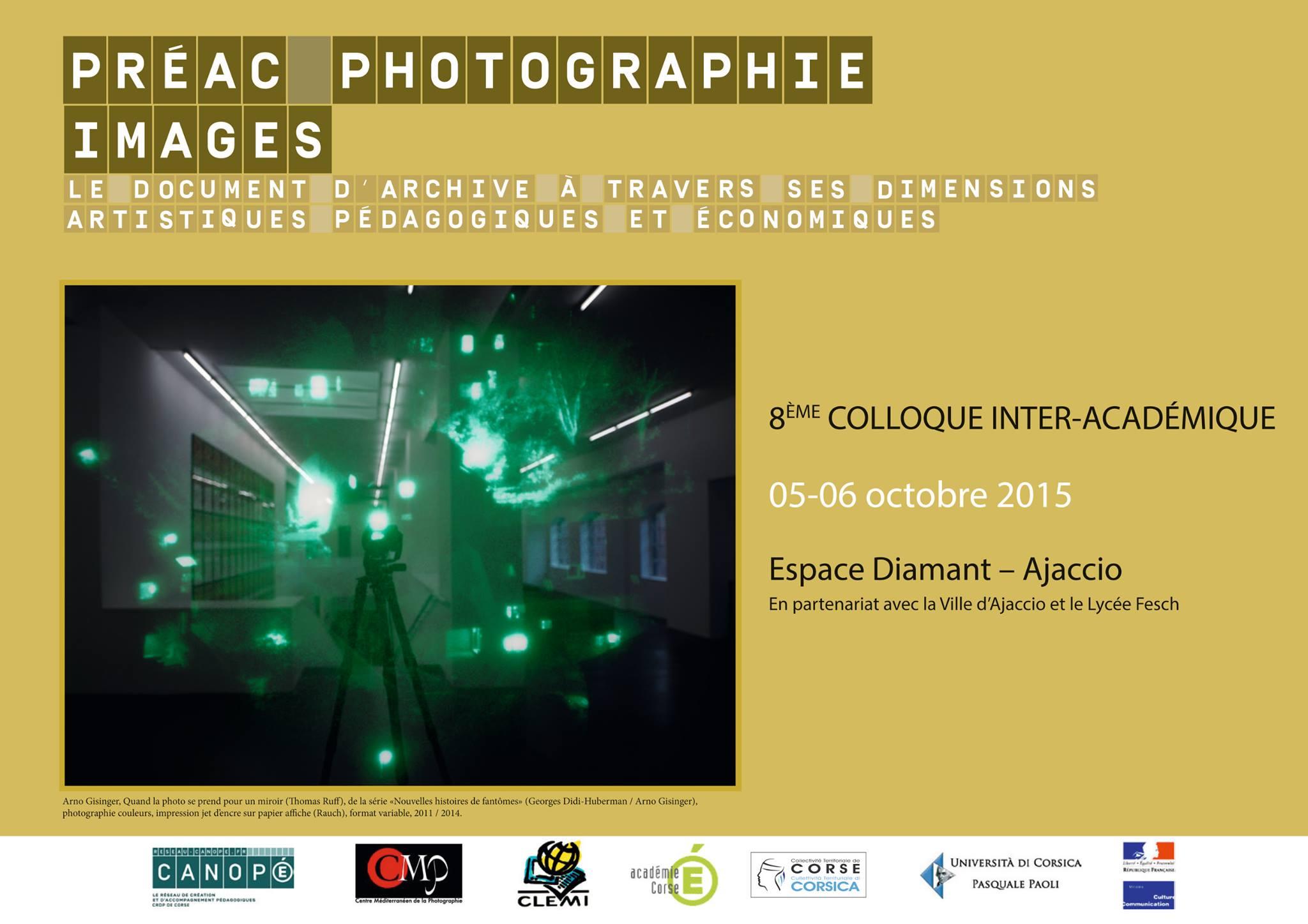 8ème colloque avec le Centre Méditerranéen de la Photographie à l'Espace Diamant à Ajaccio