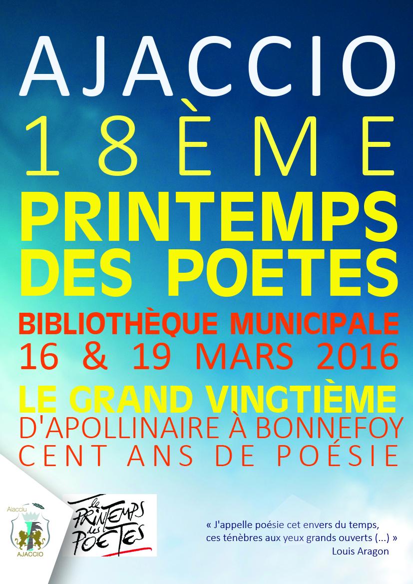 Le Printemps des poètes / 16 & 19 mars à la Bibliothèque Fesch