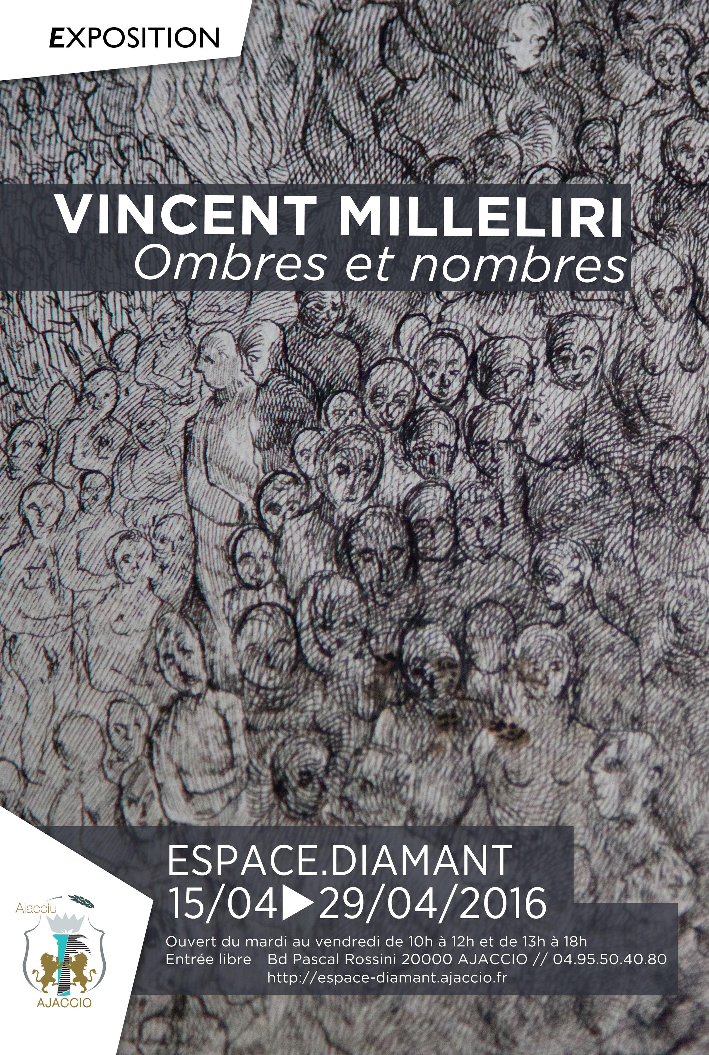 """Exposition """"Ombres et nombres"""", oeuvres de Vincent Milleliri"""