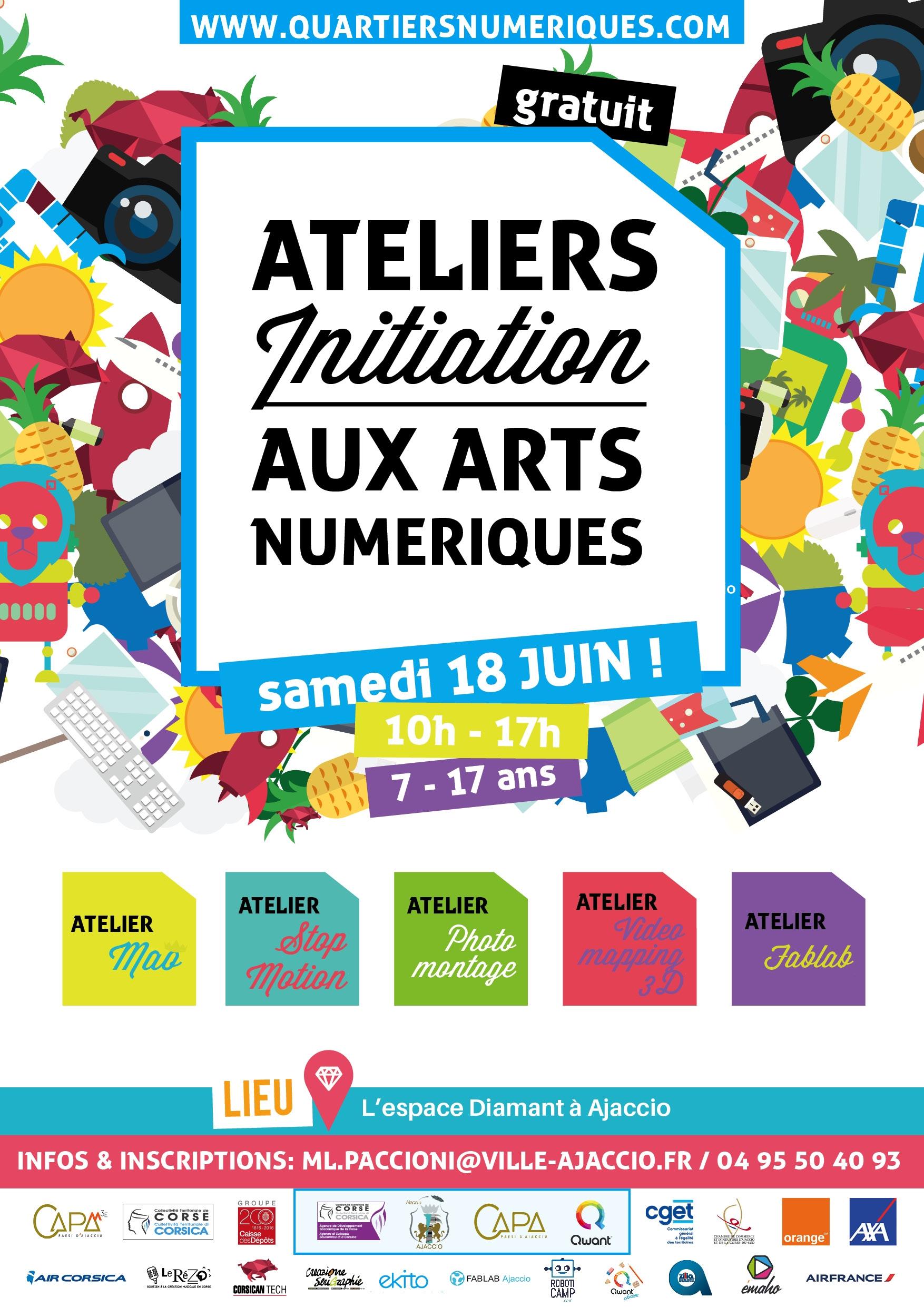 QUARTIERS NUMERIQUES DU 17 AU 23 JUIN : ATELIERS