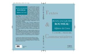 """Conférence """" la nouvelle édition du projet de Constitution pour la Corse de Rousseau"""""""