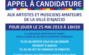 Appel à candidature pour les musiciens & artistes amateurs de la Ville d'Ajaccio
