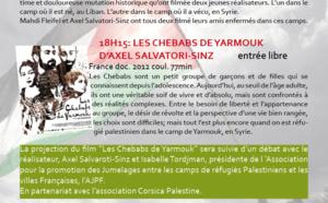 Soirée DOC & Doc avec CorsicaDoc : AU COEUR DES CAMPS PALESTINIENS