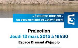 """Jeudi 12 mars à 18h30 Cinéma : Avant première Via Stella """"E giustu dire nò"""" Entrée libre"""